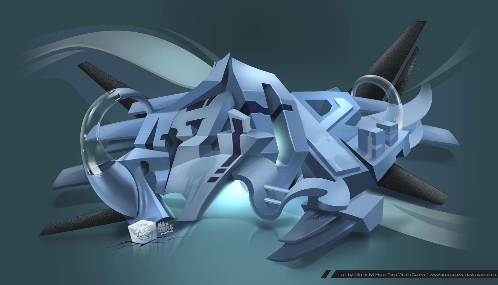 AZOR graffiti style