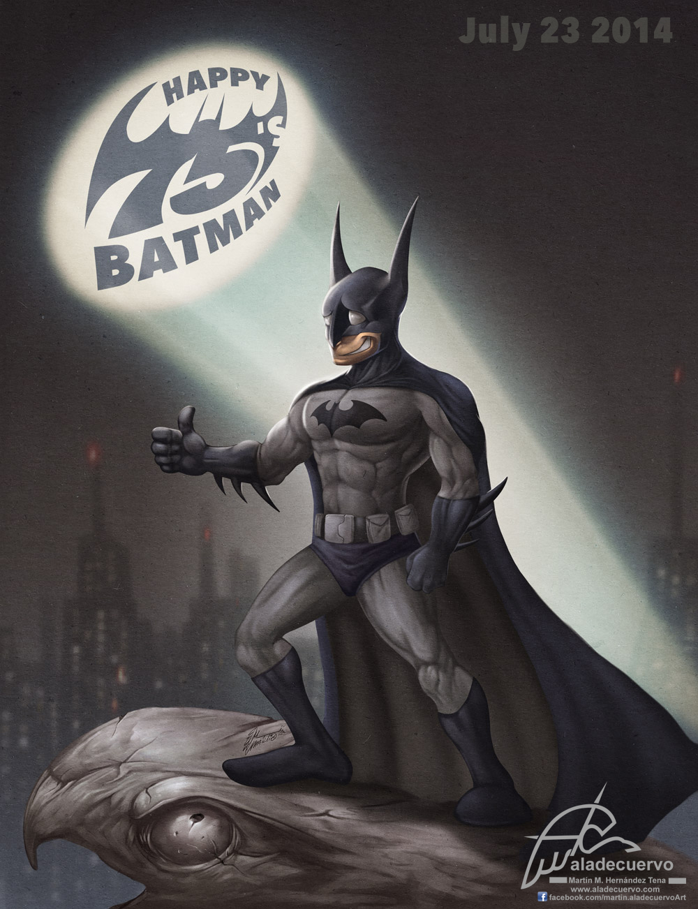 Happy 75′s Batman
