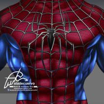 Spiderman torso fanart