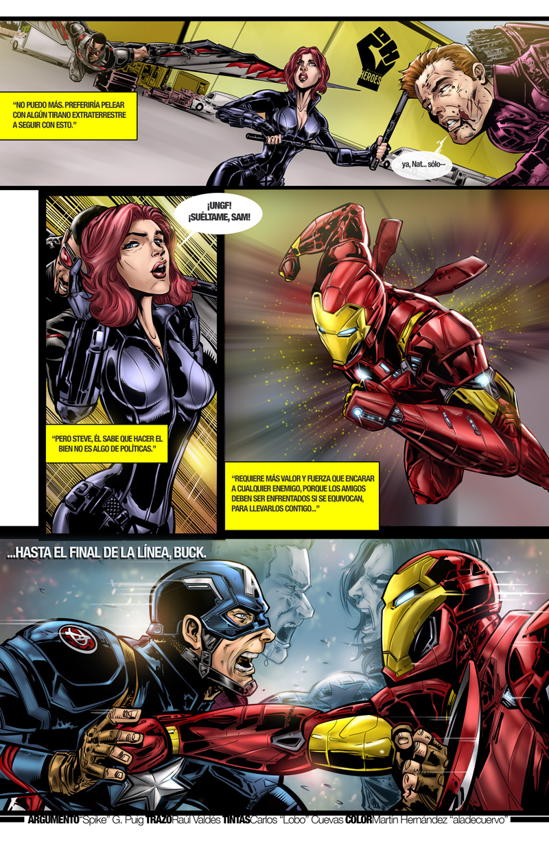 Diseñando Heroes Civil War page
