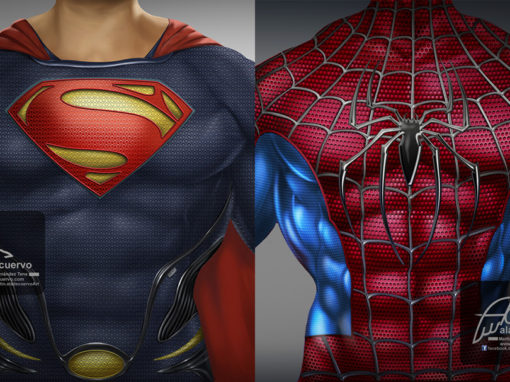 Superman y Spiderman torsos