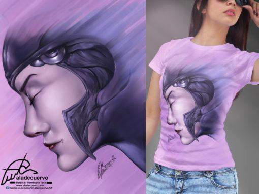 Amazona Ilustracion para camiseta