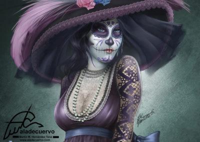 La Catrina, un homenaje ilustrado