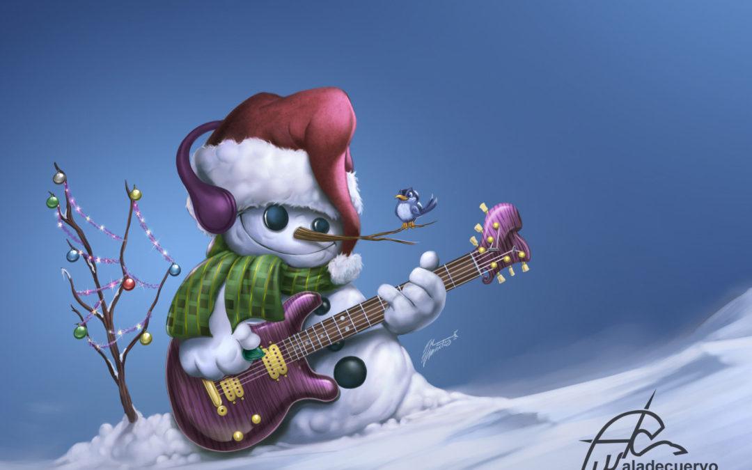 Feliz Navidad Muñeco de Nieve