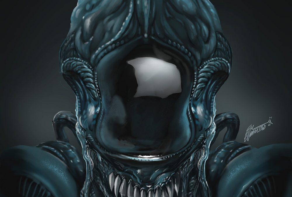 Alien fanart Ilustración en Procreate