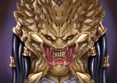 Predator's Procreate fanart illustration