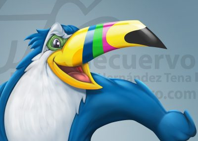 Tucan. Ilustración de mascota