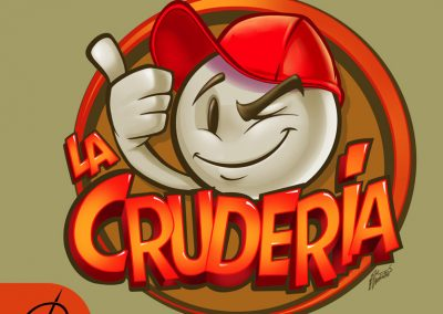La Crudería. Logo ilustrado