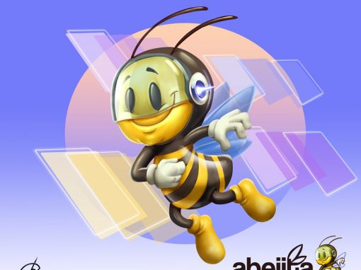 Abejita Geek mascot design for sale
