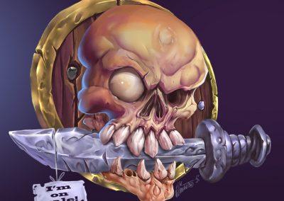 Skull pirate game art